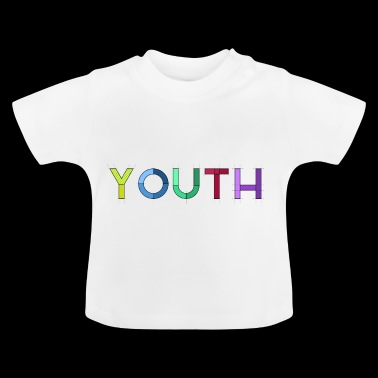 Jeugd belettering Rainbow Colorful - Baby T-shirt