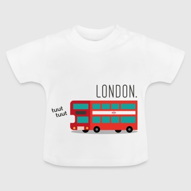 Red London Bus - T-shirt Bébé