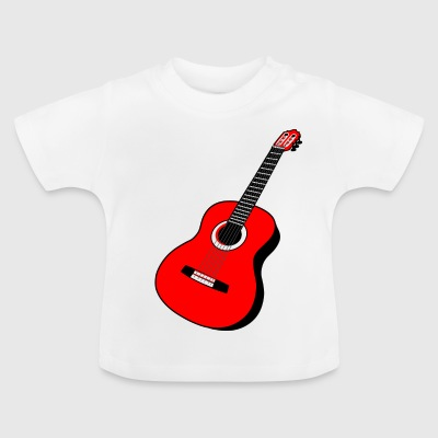 Guitar acoustics red - Baby T-Shirt