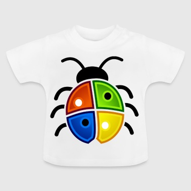 windows coccinelle - T-shirt Bébé