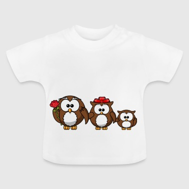 Ugle familie få store matchende outfits - Baby T-shirt