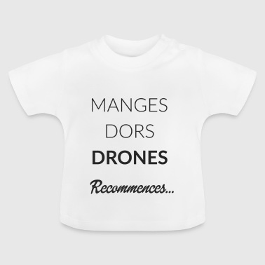 ROUTINE DRONE BLACK - T-shirt Bébé
