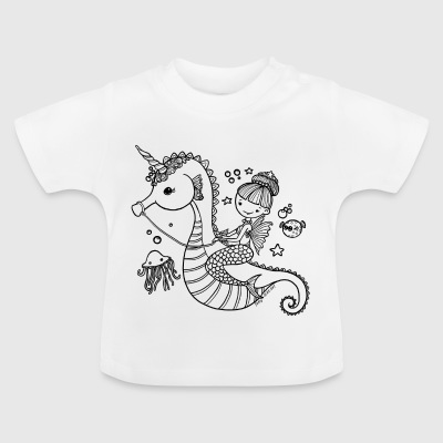 Mermaid with seahorses - Baby T-Shirt