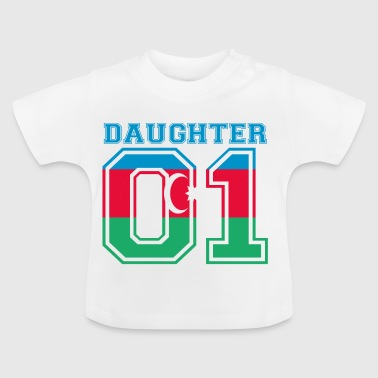 Daughter daughter queen 01 Azerbaijan - Baby T-Shirt