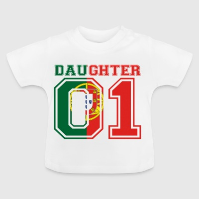 Daughter Tochter queen 01 PORTUGAL portugese - Baby T-Shirt