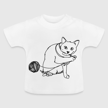 Cat with wool - Baby T-Shirt