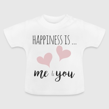 happiness is me and you - T-shirt Bébé