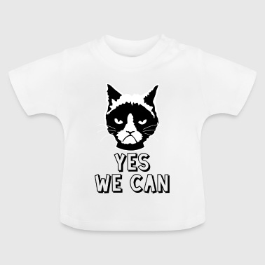 Yes we can / katze - Baby T-Shirt