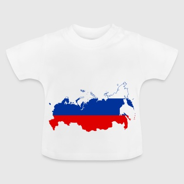 Russia map - Baby T-Shirt