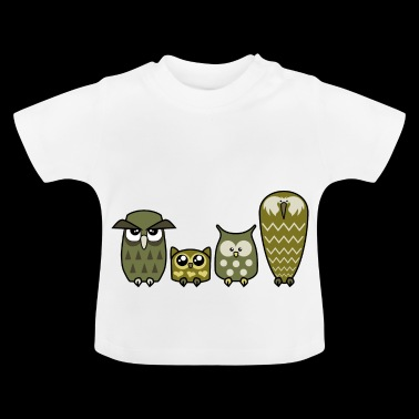 Alles is Owly (goud) - Baby T-shirt