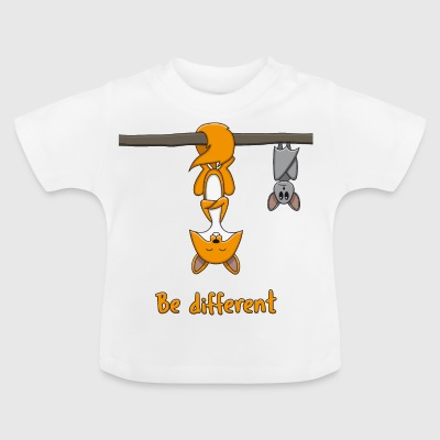 Fox and Bat: Be Different - Baby T-Shirt