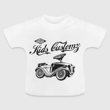 Bobbycar Kinder Mechaniker, junger Tuner, Garage - Baby T-Shirt