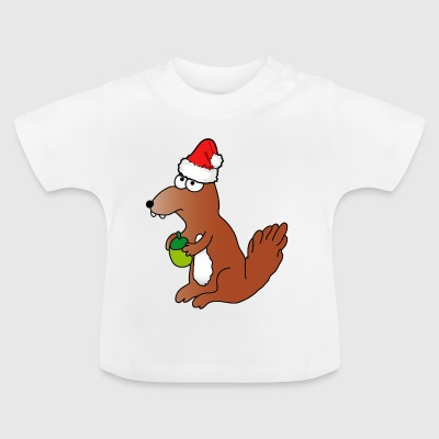 Christmas | Merry Christmas squirrel forest - Baby T-Shirt
