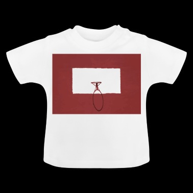 Basketbal hoepel sport rood - Baby T-shirt