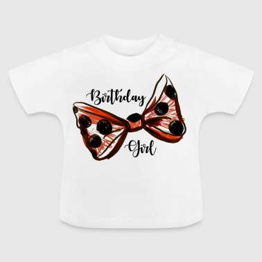 Fødselsdagspige. Trendy Birthday Girl - Baby T-shirt