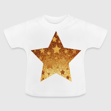 Star with asterisks - gold with gold - Baby T-Shirt