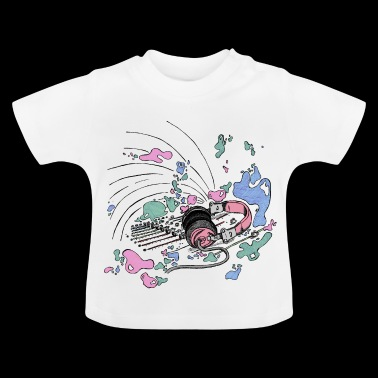 Headphones and DJ console [pink] - Baby T-Shirt