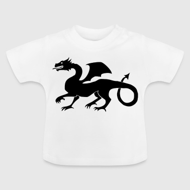 Dragon medeltida present Black - Baby-T-shirt