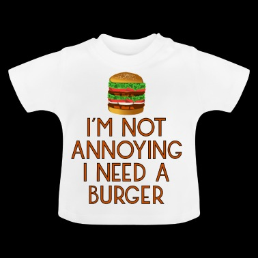burger fast food snack beef hamburger pommes15 - Baby T-Shirt