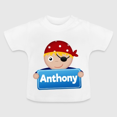 Lite Pirate Anthony - Baby-T-skjorte