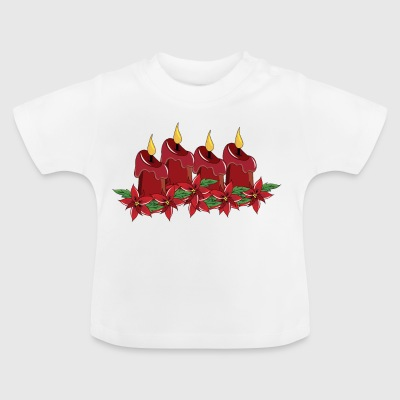 Derde Sunday Of Advent Christmas Season Candles - Baby T-shirt