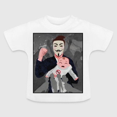anonymous baby protest demokratie - Baby T-Shirt