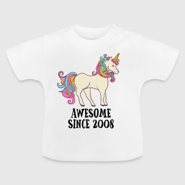 Awesome Since 2008 Unicorn Birthday Gift - Baby T-Shirt