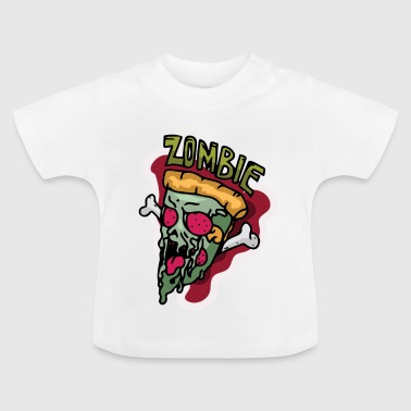 Zombie pizza for Halloween scary gift - Baby T-Shirt