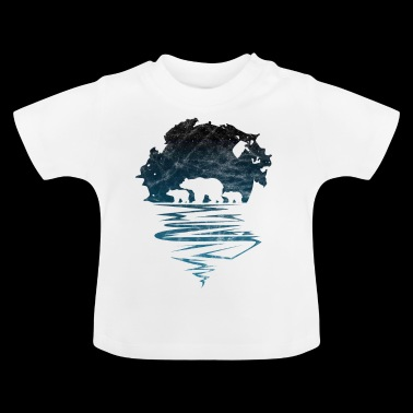 Ours polaire ours sauvage silhouette ours polaire - T-shirt Bébé