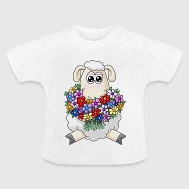 Bouquet cartoon schapen - Baby T-shirt