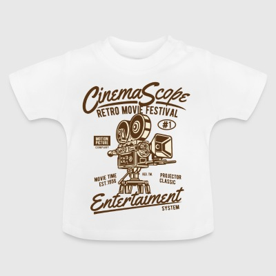 RETRO FILM FESTIVAL - Cinema och filmen shirt design - Baby-T-shirt