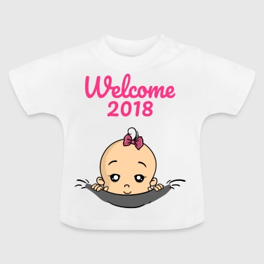 Welcome 2018 baby pregnancy - Baby T-Shirt