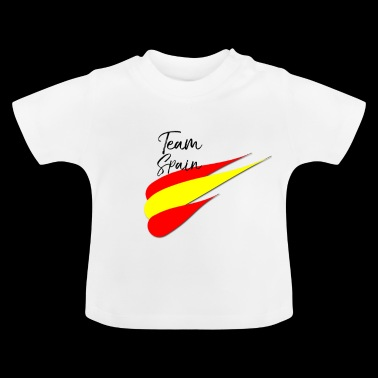 Spaanse voetbal Heren Vrouw Waaier T-shirt TEAM SPANJE - Baby T-shirt