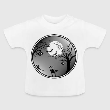Halloween landschap - Baby T-shirt