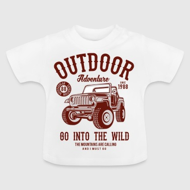 OUTDOOR ADVENTURE JEEP - Camping & Outdoor Shirt - Baby T-Shirt