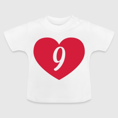 9th birthday heart Shirts - Baby T-Shirt