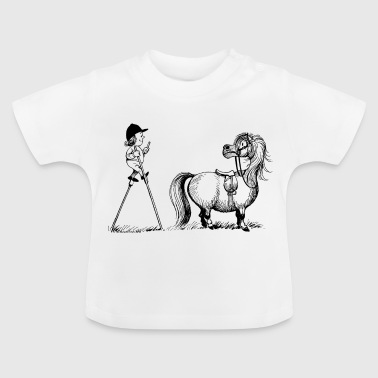 Thelwell - Penelope wirh stilts - Baby T-Shirt