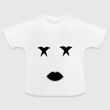 Marshmallow Halloween Face - Baby T-Shirt