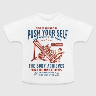 FITNESS AND MOTION - sports and fitness shirt design - Baby T-Shirt
