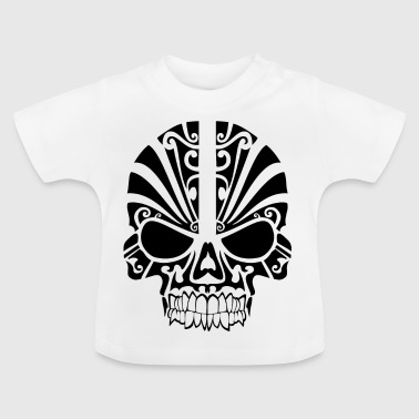 Skull with pattern - Baby T-Shirt