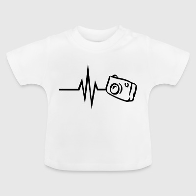 My heart beats for photography camera photographer - Baby T-Shirt