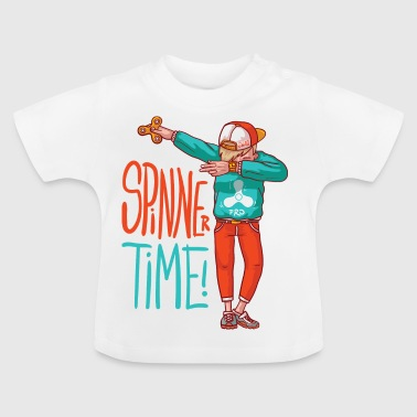 Spinner boy with cap makes the dub move - Baby T-Shirt
