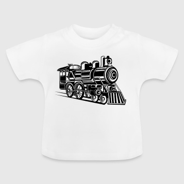 Lokomotive / Locomotive 01_weiß - Baby T-Shirt
