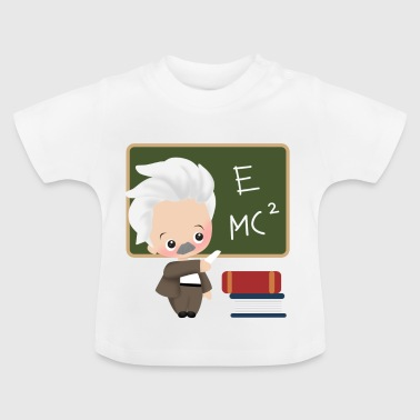 Albert Einstein regalo fan idea intelligente di apprendimento - Maglietta per neonato