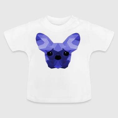 French Bulldog Low Poly Design blue - Baby T-Shirt