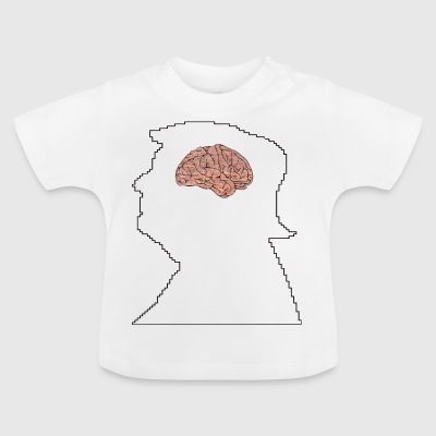Trump with wall in the brain - Baby T-Shirt