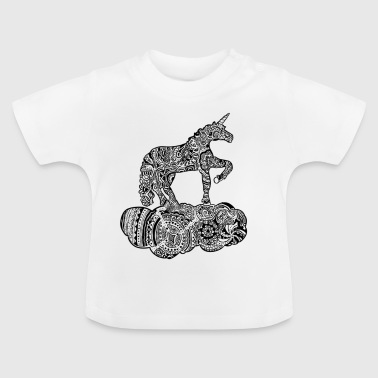 Enchanted black and white unicorn - Baby T-Shirt