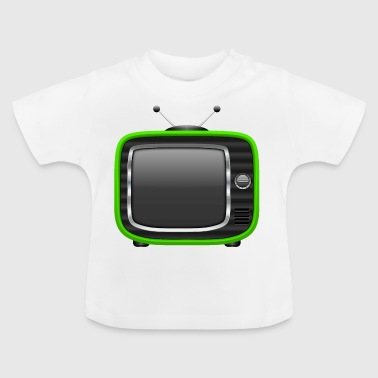 Retro Tv Green 003 AllroundDesigns - Baby T-Shirt