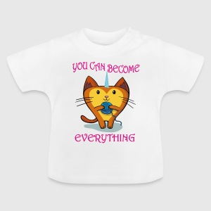 Unicorn Unicorn Cat dronning - Baby T-shirt