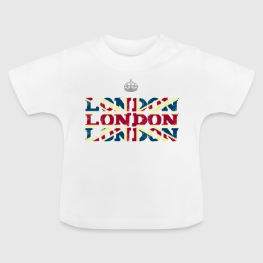 London England Union Jack brexit crown Queen trip - Baby T-Shirt